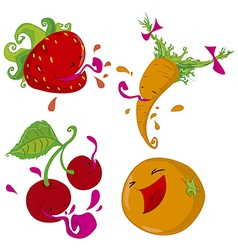 Set of of fruits and vegetables vector image