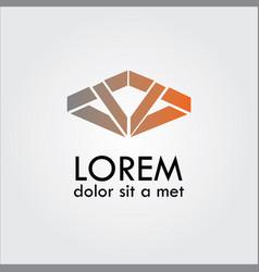 Shape line abstract company logo vector