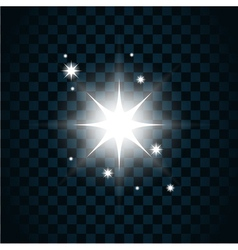 Shine star sparkle icon 2 vector image