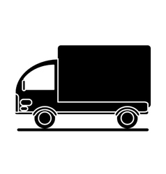 silhouette truck mini delivery cargo vector image