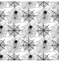 Spiders and spider web silhouette spooky seamless vector