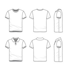 Templates t-shirt and polo shirt vector