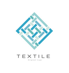 Textile original logo design creative geometrical vector