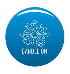 Torn dandelion logo icon blue vector