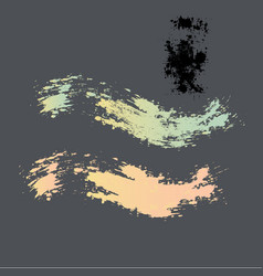two grunge brushes in different colors vector image