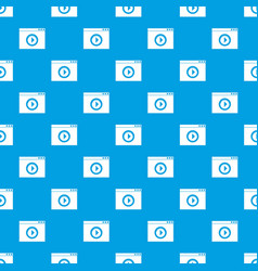 video player pattern seamless blue vector image