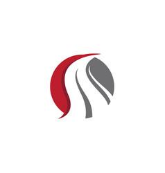way logo icon design vector image