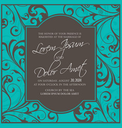 wedding invitation and save the date cards vector image