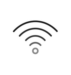Wifi design black vector