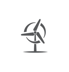 Wind turbine icon on white background vector