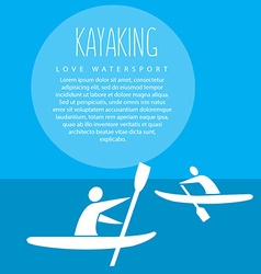 with signature kayaking love watersport vector image