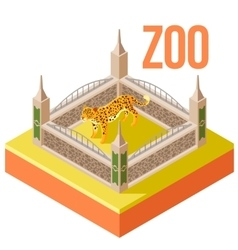 Zoo Leopard isometric icon vector image