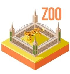 Zoo leopard isometric icon vector