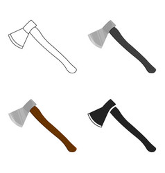 axe icon cartoon single weapon icon from the big vector image vector image