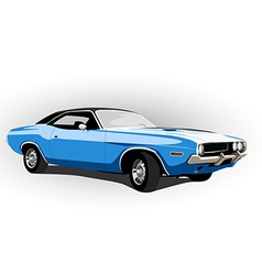 blue classic hot car vector image