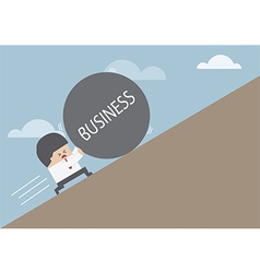 Businessman rolling ball vector image