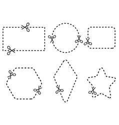 coupon border set vector image