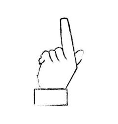 Hand male finger pointer image vector