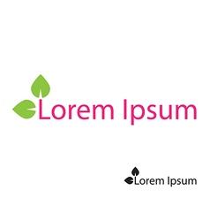 Leaves natural eco logo vector image