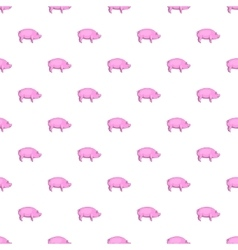 Pig pattern cartoon style vector image