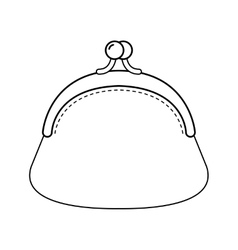 Purse Flat linear of object Fashion vector image vector image