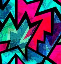 bright vintage geometric seamless pattern vector image