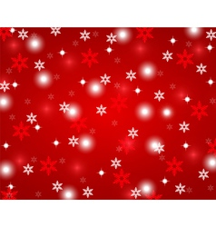 Christmas red shiny abstract background vector image vector image