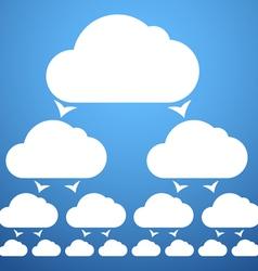 cloudscheme vector image vector image