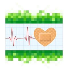 Heart shape medical plaster vector image vector image