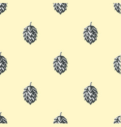 hop beer seamless pattern background vector image
