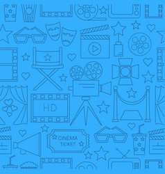 Movie seamless pattern background with vector