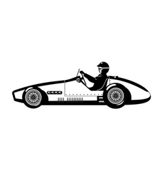 old sports car vector image
