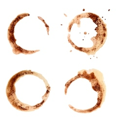 Set of coffee stains for design vector image vector image