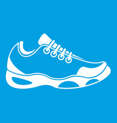 sneakers for tennis icon white vector image