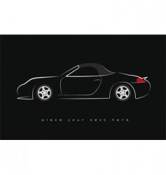 sport scar silhouette vector image vector image