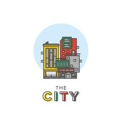abstract city logo vector image