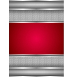 background template metallic texture red blank vector image vector image