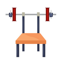 cartoon bench press with weights vector image