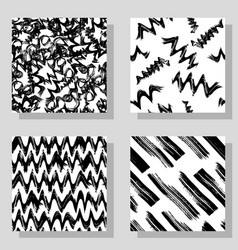 collection monochrome grange seamless textures for vector image vector image