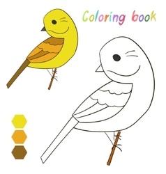 Coloring book bird yellowhammer vector