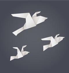 Paper origami birds vector image vector image