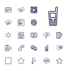 22 mobile icons vector image