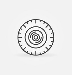 360 degree video camera outline round vector