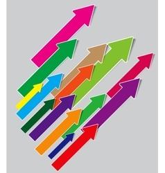 A lot of arrows vector image