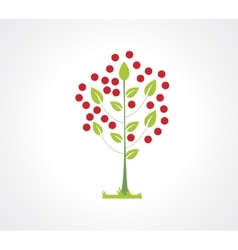 Abstract apple tree flat icon Logo element for vector