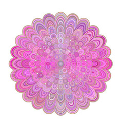 Abstract floral mandala art - digital graphic vector