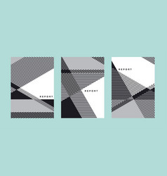 Abstract geometric cover template vector