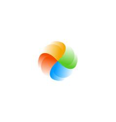 abstract swirl logo icon design modern vector image