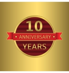 Anniversary 10 years vector image