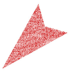 arrowhead left-down fabric textured icon vector image